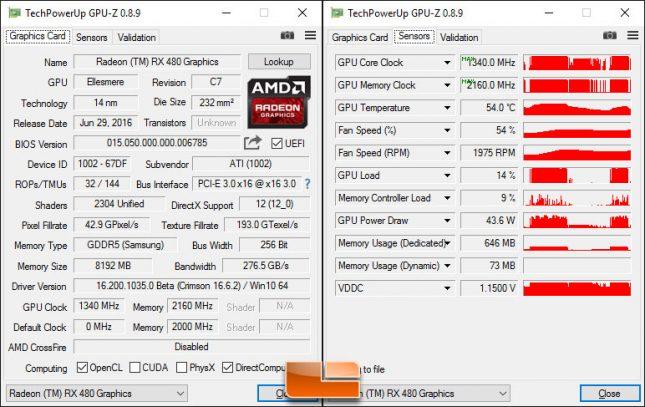 Overclocked Radeon RX 480