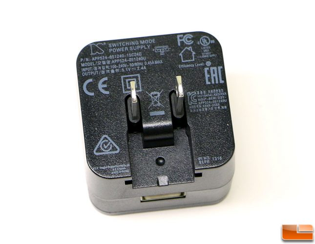 2.4A Travel Charge Adapter