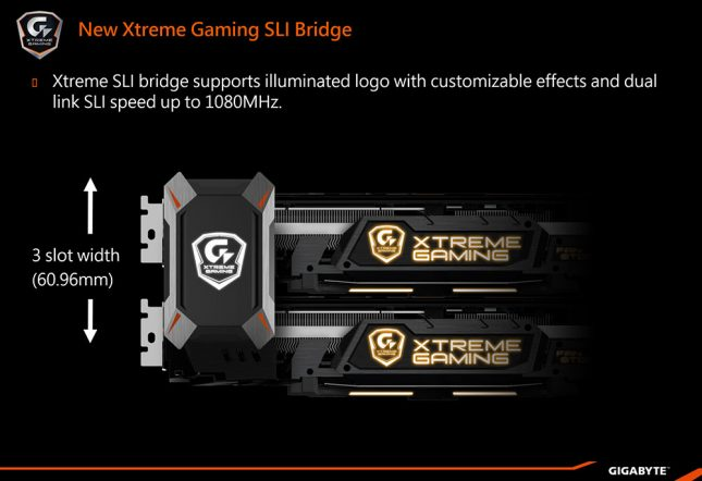 Gigabyte 1080 SLI Bridge