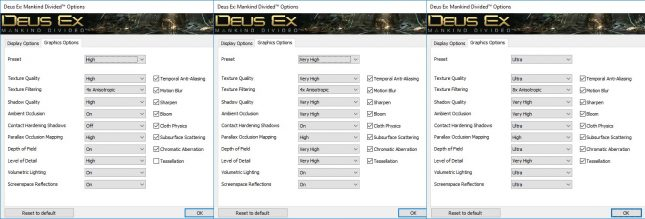 Deus Ex: Mankind Divided Image Quality Settings