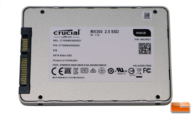 MX300 1TB SSD Label
