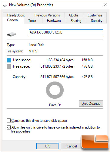 ADATA SU800 512GB Capacity