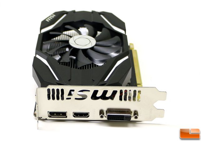 MSI GeForce GTX 1050 Connectors