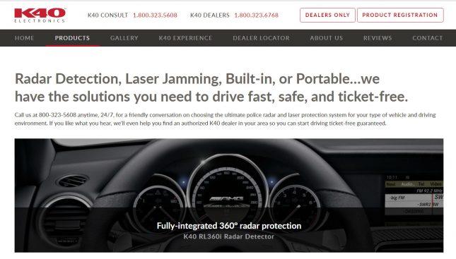 K40 Electronics Website