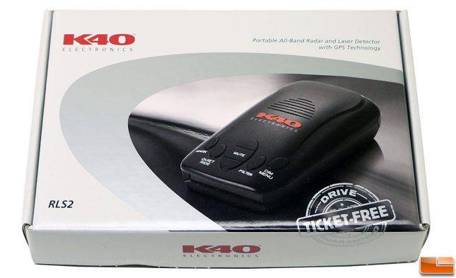 K40 RLS2 Radar Detector Retail Box