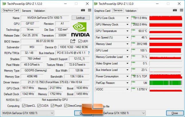 Max Overclock MSI GeForce GTX 1050 Ti 4G OC