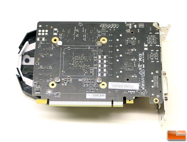 MSI GTX 1050 Ti OC Back