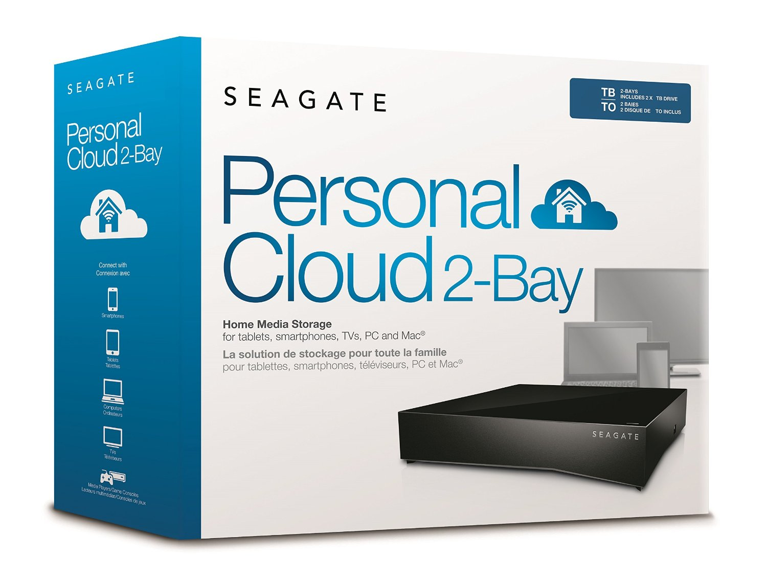 seagate personal cloud 2 bay home media storage devices