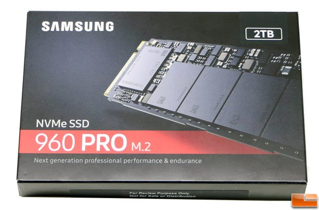 Samsung SSD 960 Pro 2TB Retail Packaging