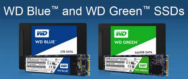 WD Blue and WD Green SSDs