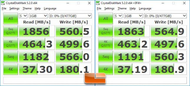 Intel SSD 600p CrystalDiskMark