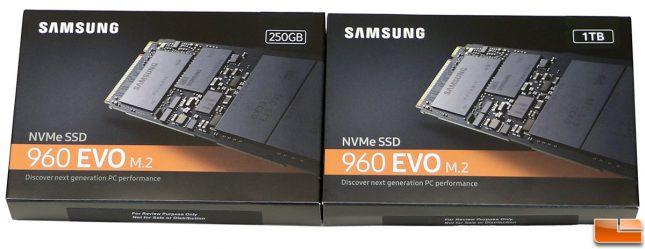 Samsung SSD 960 EVO PCIe SSDs