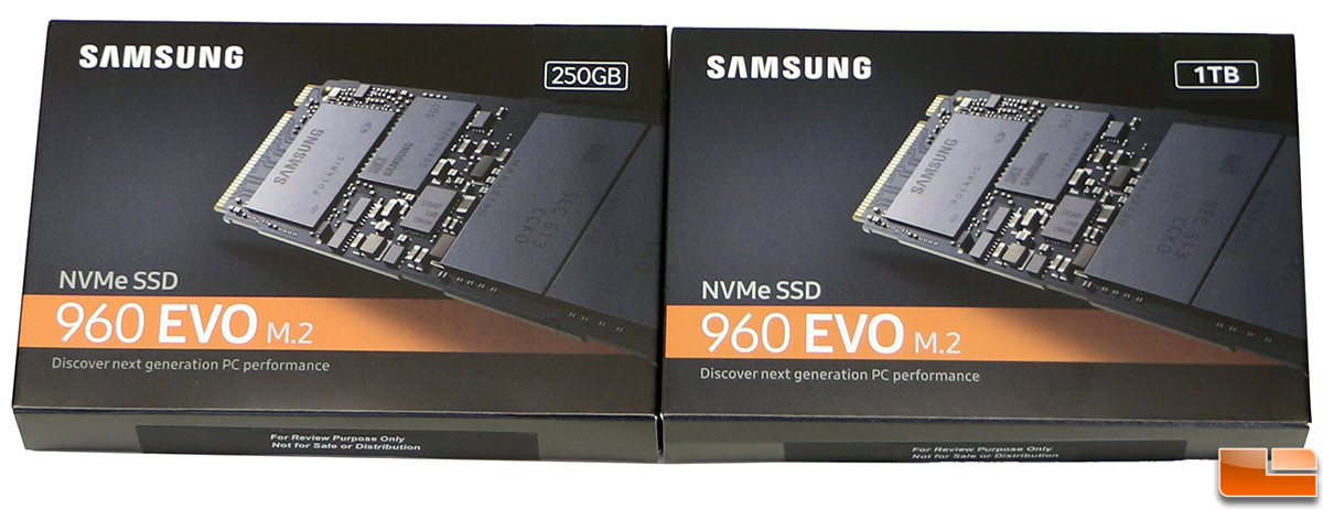Samsung SSD 960 EVO Review - 250GB and 1TB NVMe M 2 Drives Tested
