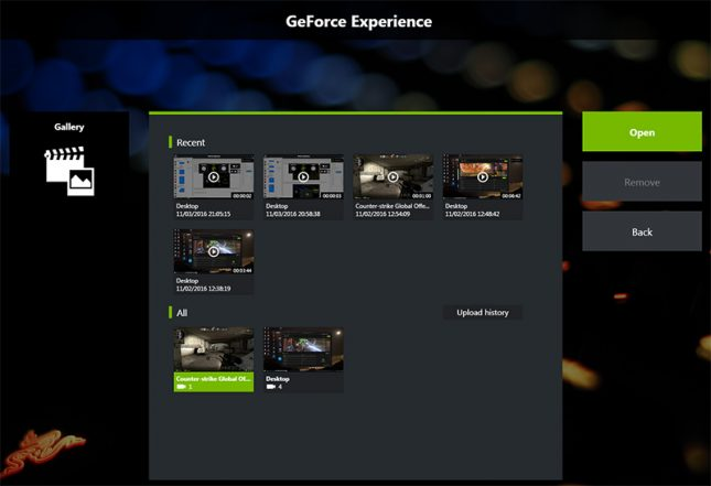 GeForce Experience Galaxy