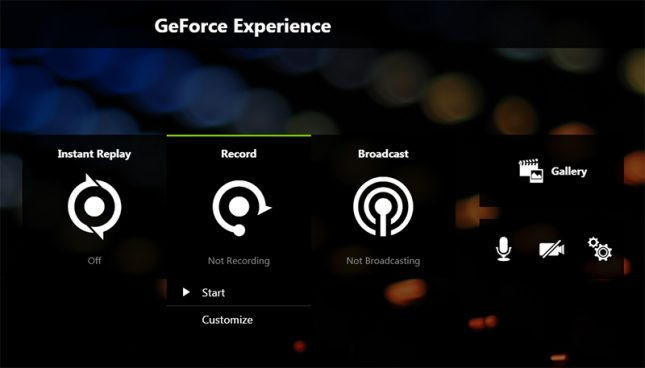 GeForce Experience Record