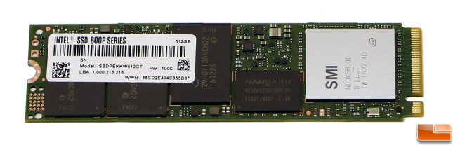 Intel SSD 600P Series 512GB M.2 Drive