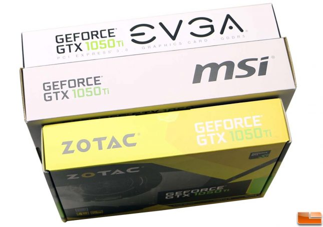 GeForce GTX 1050 Ti Retail Packaging