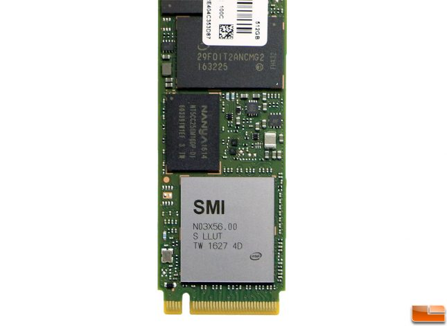 SMI SM2260 Controller on the Intel SSD 600p