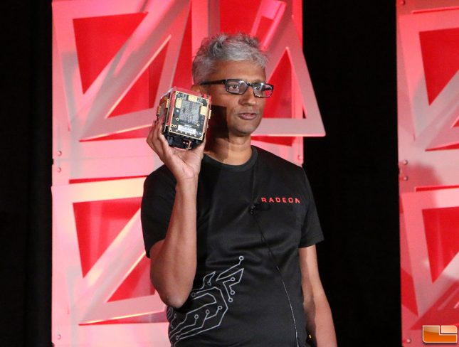 AMD VEGA Cube Held By Raja