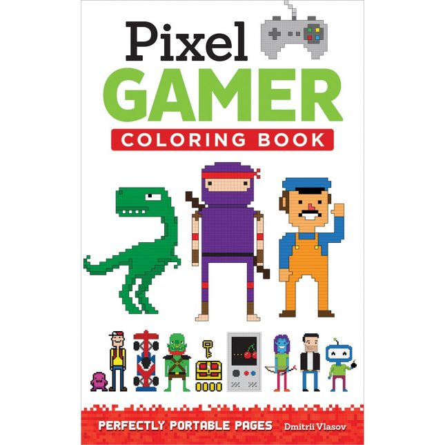 Pixel Gamer Coloring Book