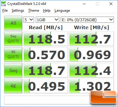 WD My Passport 4TB CrystalDiskMark