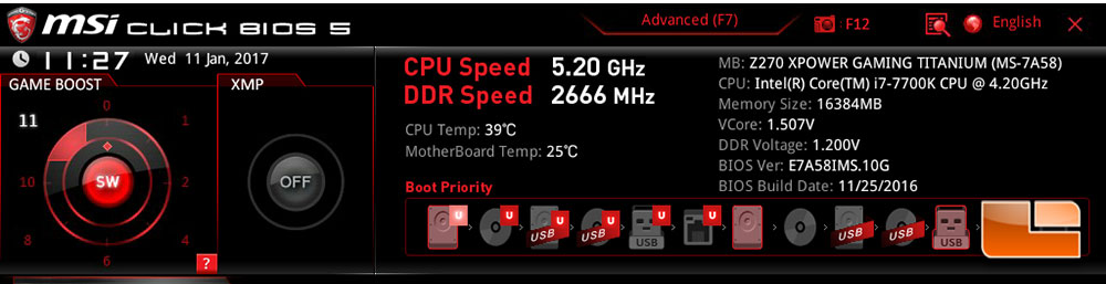 MSI Allowing CPU Overclockers To Hit 5 2GHz On Select Intel Z270