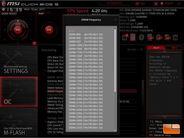 MSI Z270 XPower Gaming Titanium UEFI