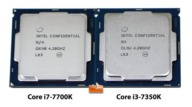Intel Core i7-7700K and Core i3-7350K