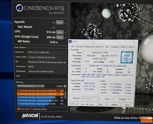 Intel Core i7-7350K Overclock to 5.0 GHz