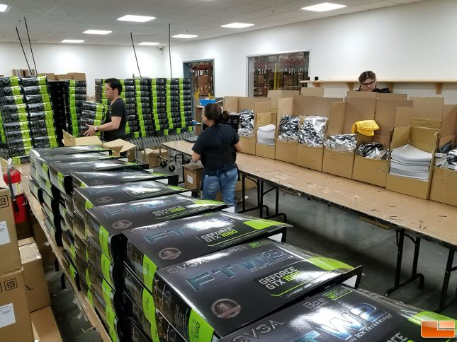EVGA GTX 1080 FTW2 Cards Being Boxed Up