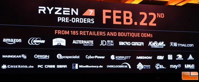 AMD Ryzen 7 Preorder