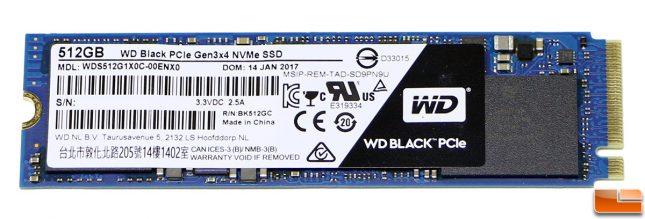WD Black M.2 PCIe NVMe SSD 512GB