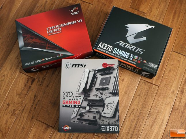 AMD X370 Chipset Motherboards