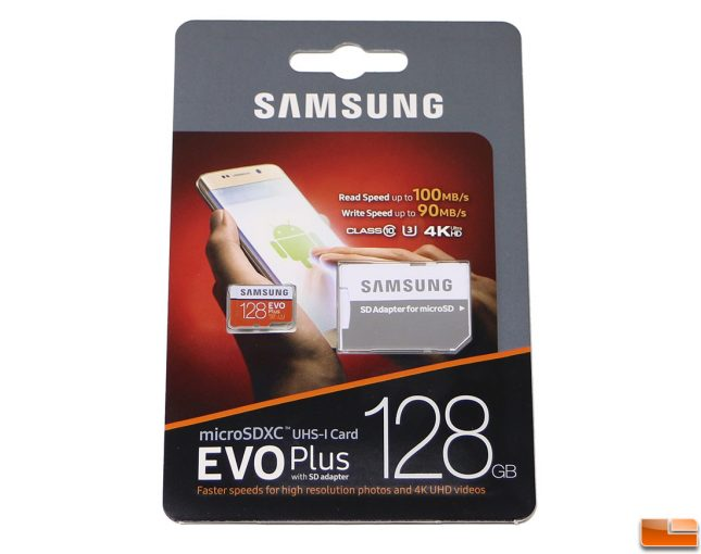 Samsung EVO Plus 128GB MicroSDXC Memory Card Retail Packaging