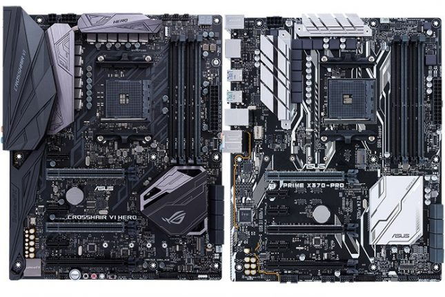 ASUS X370 Boards