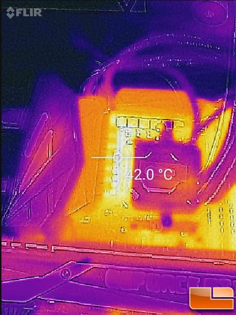 ASUS ROG Crosshair VI Hero VRM Phase Temperature