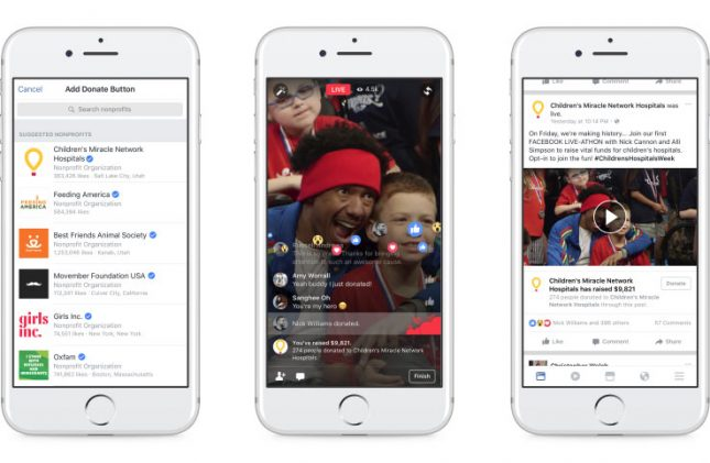 Facebook Launches Fundraising Tools and Donate Buttons