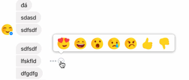 Facebook Integrates Reactions into Messenger for Some Users