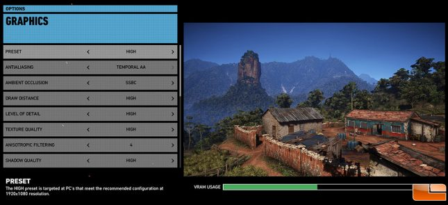 Ghost Recon Wildlands Image Quality Settings