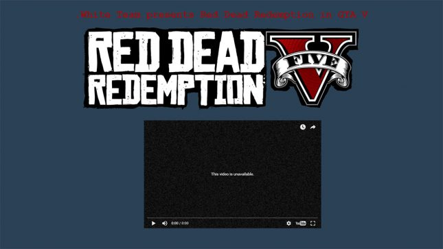 Red Dead Redemption V Has been Killed