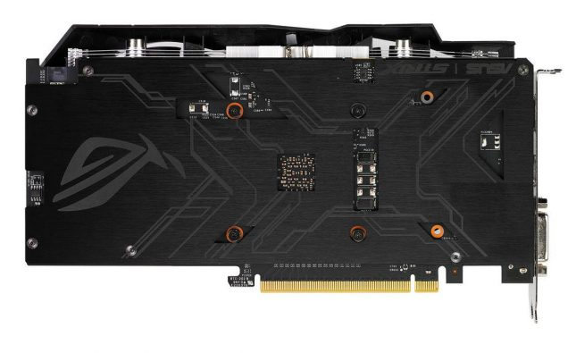 ASUS Geforce GTX 1050Ti Backplate