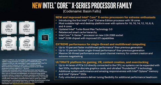 Intel X-Series Processor X299 Platform