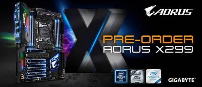 Gigabyte Offers X299 Aorus Mainboard Pre-Order Bonus Options