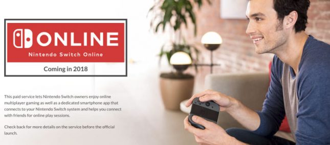 Nintendo Switch Online Service Lands in 2018 for $20 per Year