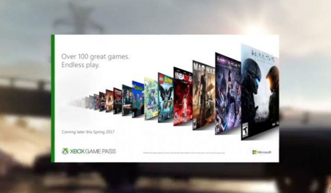 Xbox Games Pass Puts Over 100 Games at your Fingertips