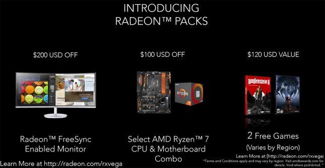 AMD Radeon Packs For Vega