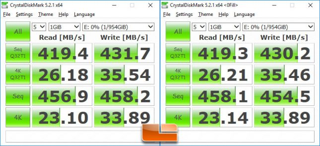WD My Passport SSD CrystalDiskMark