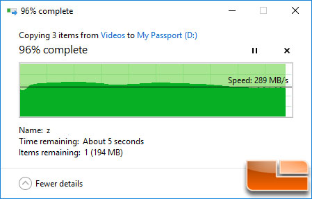 WD My Passport SSD 1TB File Transfer Speed