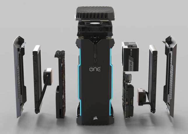 Corsair One Pro Exploded Front