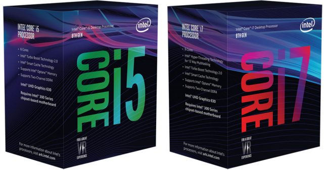 Intel 8th Generation Processor Retail Box Packaging
